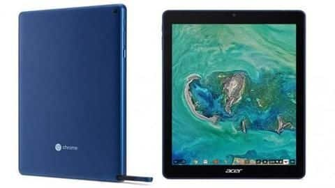 Acer launches the first-ever tablet to run on Chrome OS