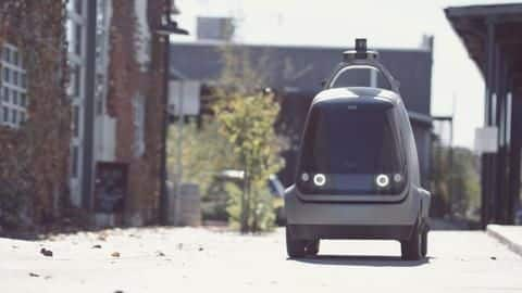 US start-up builds driverless car for home deliveries