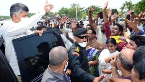 Chandrababu Naidu's crowded welcome in Andhra Pradesh sparks political row