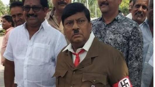 TDP MP dresses as Adolf Hitler to protest