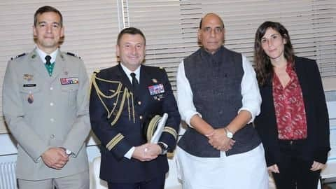 Rajnath Singh reaches France, will receive first Rafale jet
