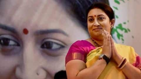 Smriti gets longest applause while taking oath in Lok Sabha