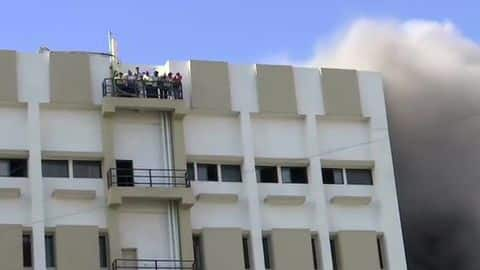 Mumbai: Fire breaks out at MTNL building, 100 feared trapped