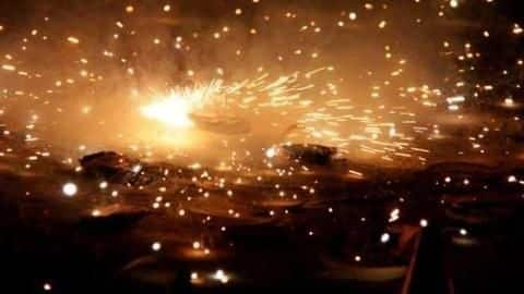 Man arrested for bursting crackers, but authorities unsure about 'green-crackers'