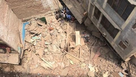 Delhi: Under construction building collapses, students feared trapped
