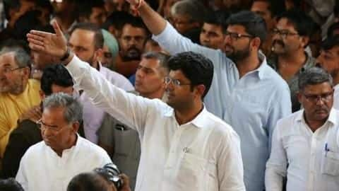 Before son Dushyant's oath-taking ceremony, father Ajay Chautala gets freedom
