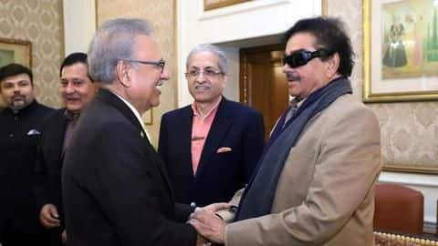 Congress' Shatrughan Sinha meets Pakistan President in Lahore, discusses Kashmir