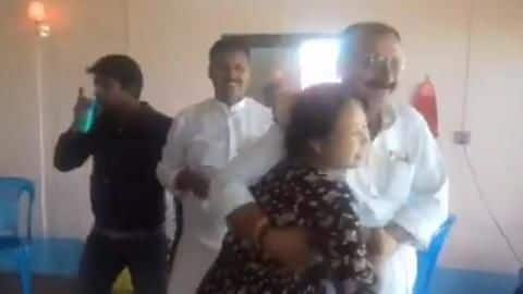 Caught-on-camera: RJD minister, on 'study tour', forcibly dances with woman
