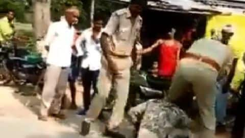 UP: Cops mercilessly thrash youth as his terrified nephew watches