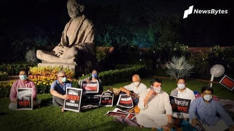 Suspended MPs protest overnight, Harivansh offers tea, PM lauds gesture