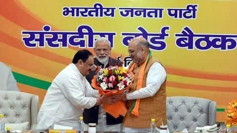 JP Nadda succeeds Amit Shah, elected as BJP President unopposed