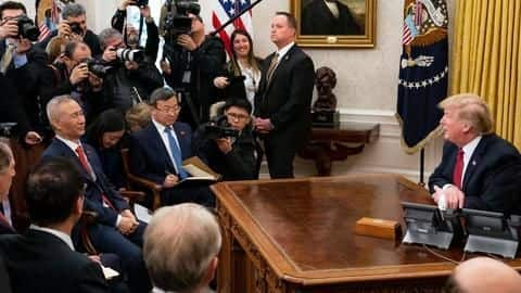 US and China sign deal to ease trade tensions