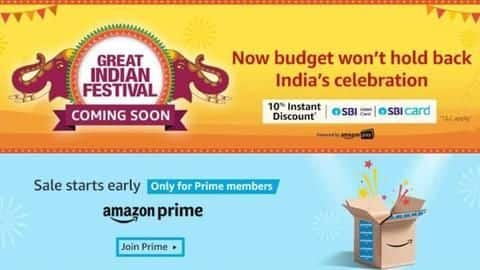 Amazon Great Indian Festival Sale 2019 announced: Details here
