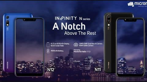 Micromax Infinity N11, N12 launched in India: Specifications, price, sale