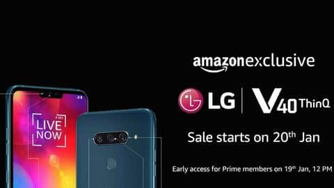 LG V40 ThinQ sporting 5 cameras to be Amazon-exclusive