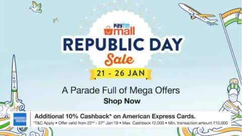Paytm Mall Republic Day Sale: Top deals on best-selling smartphones