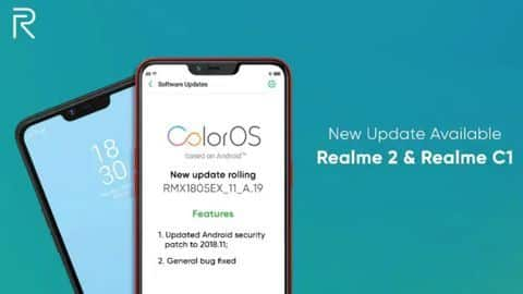 Realme 2, Realme C1 receive this important Android update