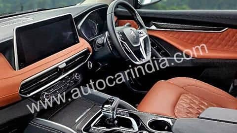 MG Gloster's interior details and features revealed in spy shots