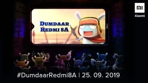 'Dumdaar' Redmi 8A to be launched on September 25