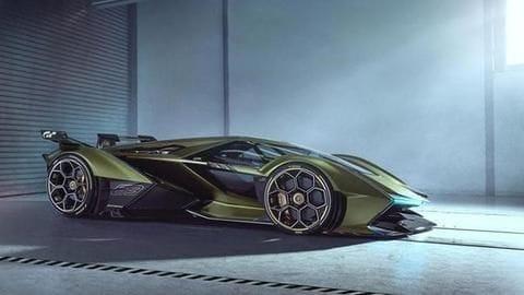 "Lamborghini unveils a powerful concept hypercar for ""virtual driving"""