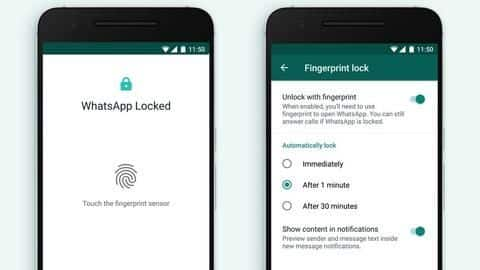 WhatsApp for Android gets fingerprint lock feature