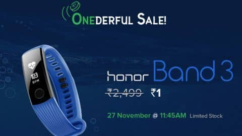 Honor Band 3 for Re. 1: Here's how to buy