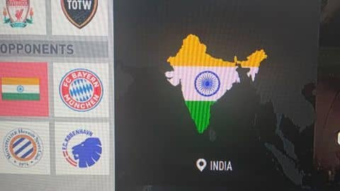 Again, J&K missing from Indian map in FIFA 20