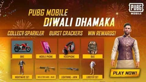 PUBG Mobile Diwali Dhamaka goes live, new goodies on offer