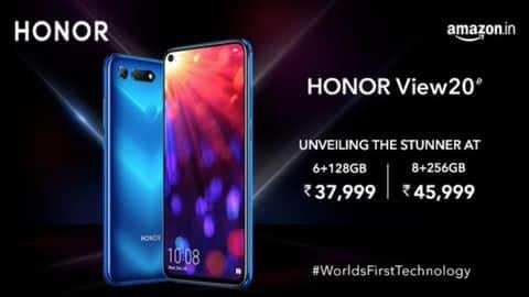Honor View 20 launched, price starts at Rs. 37,999