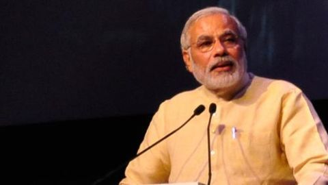 Modi lists merits of his government in Uk