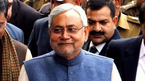 Nitish Kumar selected as Grand Alliance leader