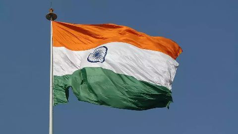 National flag at central universities