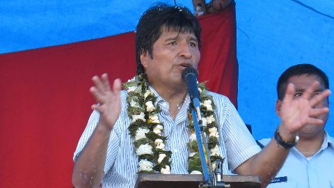 Evo Morales, the three-time Bolivian President