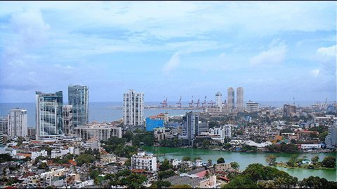 The controversial Colombo Port City project