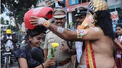 After Yamraj, Lord Ganesha now prods Bengalureans to wear helmets