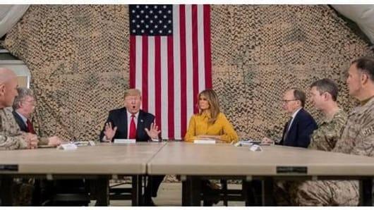Trump makes surprise visit to Iraq, makes announcements