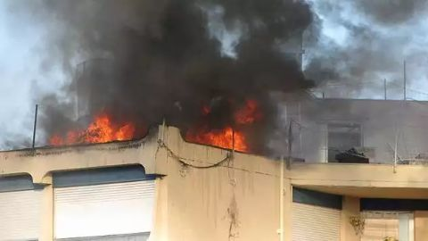 Fire spread to other floors in the building