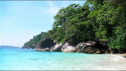 The pristine beaches of Koh Tachai