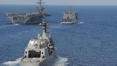 Chinese spy ship shadows US, Japanese, Indian naval drill