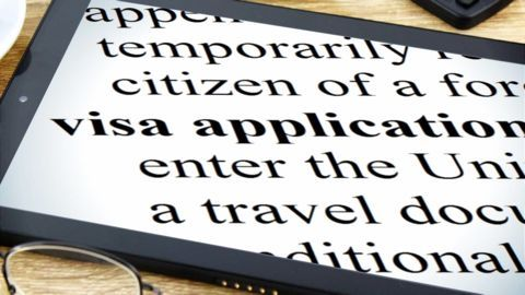 Visa applications that would be covered