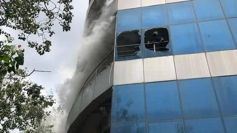 Mumbai: Fire breaks out in 7-story building in Andheri