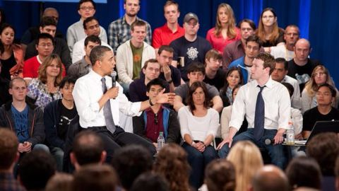 Barack Obama popularizes town hall meetings