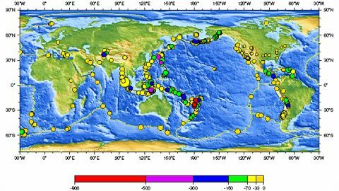 Reeling from earthquakes from one end to another