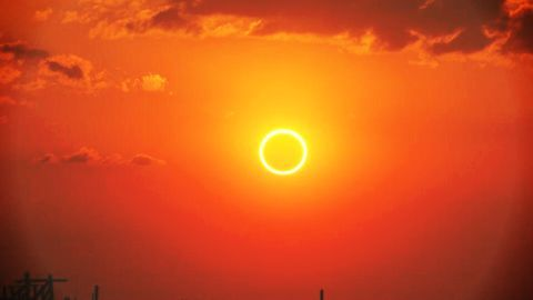 Annular solar eclipse in the African continent