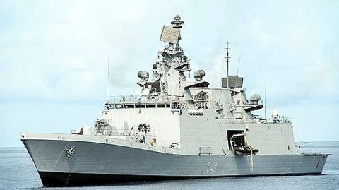 India started constructing its own stealth warships