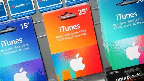 Apple iTunes gift cards to transfer funds
