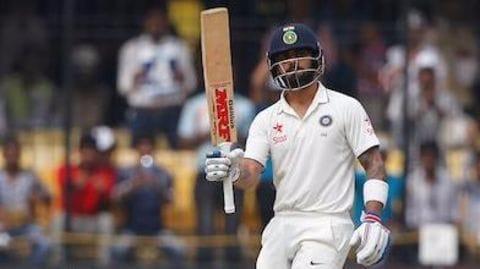 Kohli hits 13th test century as India scores 267 runs