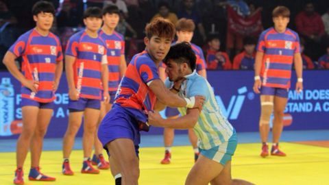 Korea continue their winning run at the Kabaddi World Cup
