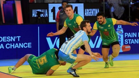 Australia registers first win in Kabaddi World Cup