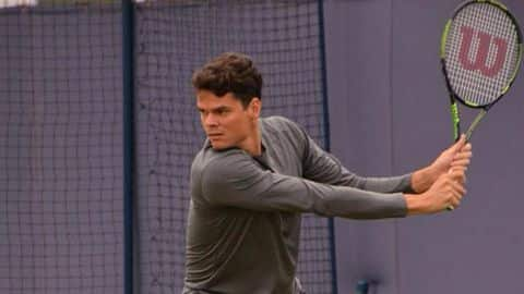 Raonic starts off with an easy win against Monfils